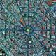 meksikada bir meydanın uydu görüntüsü