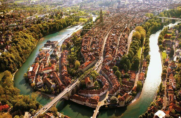 Bern şehri panoramik