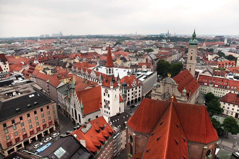 Münih şehir merkezi