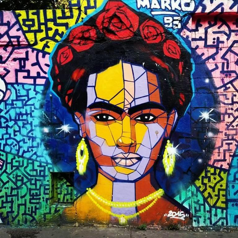 Pariste Frida çizimi