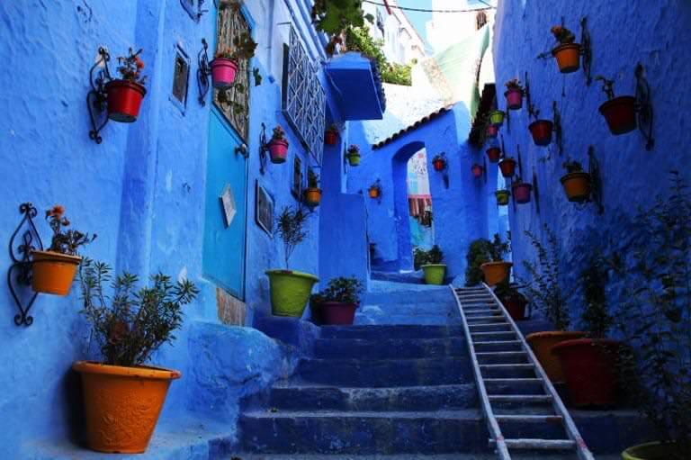 fas mavi evleri